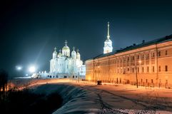 Assumption Cathedral - Vladimir, Russia. Assumption cathedral in Vladimir, Russia in the winter Royalty Free Stock Photo