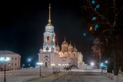 Assumption Cathedral - Vladimir, Russia. Assumption cathedral in Vladimir, Russia in the winter Stock Image