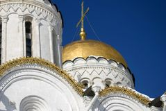 Assumption cathedral in Vladimir, Russia. UNESCO World Heritage Site. Popular touristic landmark Royalty Free Stock Photo