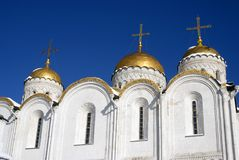 Assumption cathedral in Vladimir, Russia. UNESCO World Heritage Site. Popular touristic landmark Royalty Free Stock Photos