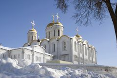 Assumption cathedral in Vladimir, Russia. UNESCO World Heritage Site. Popular touristic landmark Royalty Free Stock Images