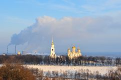Assumption Cathedral - Vladimir, Russia. Assumption cathedral in Vladimir, Russia in the winter Stock Photo