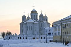 Assumption Cathedral - Vladimir, Russia. Assumption cathedral in Vladimir, Russia in the winter Stock Photography