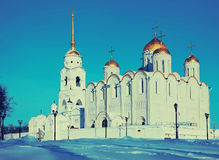 Assumption cathedral  at Vladimir  in winte. Assumption cathedral  at Vladimir in winter  constructed between 1158—1160. Russia Stock Photo