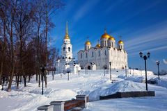 Assumption cathedral  at Vladimir in winter Royalty Free Stock Photo