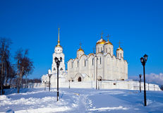 Assumption cathedral  at Vladimir in winter Royalty Free Stock Images