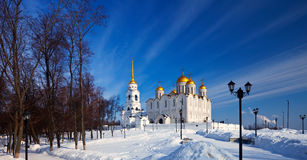 Assumption cathedral  at Vladimir in winter Stock Photo