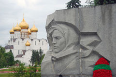 Assumption Cathedral and war monument detail Stock Photos