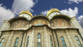 Assumption Cathedral was the site of coronation of Russian tsars, Moscow Kremlin, Russia. stock footage