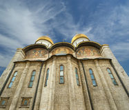 Assumption Cathedral (was the site of coronation of Russian tsars), Moscow Kremlin Royalty Free Stock Photo
