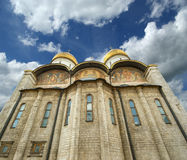 Assumption Cathedral (was the site of coronation of Russian tsars), Moscow Kremlin Stock Images