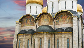 Assumption Cathedral (was the site of coronation of Russian tsars), Moscow Kremlin Royalty Free Stock Images