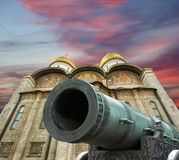 Assumption Cathedral (was the site of coronation of Russian tsars), Moscow Kremlin Royalty Free Stock Photography