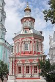 Assumption chapel over the well in Trinity Sergius Lavra. Russia Royalty Free Stock Photos