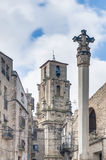 Assumption church bell tower at Calaceite, Spain. Assumption church bell tower at Calaceite in Teruel, Spain's Aragon Province Stock Photography