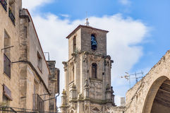 Assumption church bell tower at Calaceite, Spain Royalty Free Stock Photography