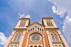 Assumption Church of Christ. The beautiful Interior of european catholic church in Bang Rak,Bangkok thailand Stock Photography