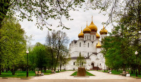 Assumption Church or Dormition cathedral in summer, Yaroslavl Royalty Free Stock Image