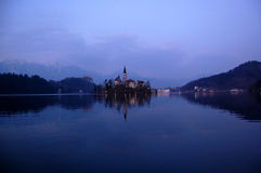 Assumption Church,on the lake Bled, Slovenia Stock Image