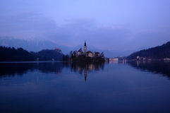 Assumption Church,on the lake Bled, Slovenia Royalty Free Stock Photos