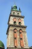 Assumption Church in Lviv. Bell tower of ancient Assumption Church in Lviv, Ukraine Stock Image