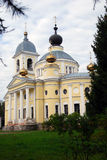 Assumption church in Myshkin, Russia. Blue sky background. Myshkin is a popular touristic city situated on the Volga river Stock Photography