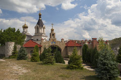 The Assumption church near the cave monastery in Butuceni. Royalty Free Stock Images