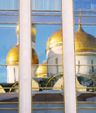 Assumption church reflection. Moscow Kremlin. Royalty Free Stock Photos