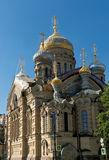 Assumption church on Vasilyevsky Island in Saint Petersburg Stock Photo