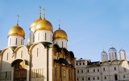Assumption church in winter. Moscow Kremlin. Stock Images