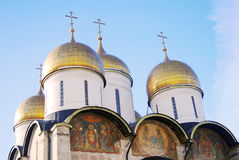 Assumption church in winter. Moscow Kremlin. Stock Photo