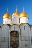 Assumption church in winter. Moscow Kremlin. Royalty Free Stock Image