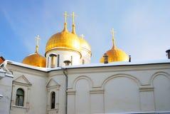 Assumption church in winter. Moscow Kremlin. Stock Photos