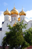 Assumption Church in Yaroslavl, Russia. Green trees. Stock Photography