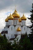 Assumption Church in Yaroslavl, Russia. Green trees. Royalty Free Stock Photography