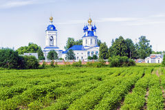 Assumption convent in the village Dunilovo, Russia Stock Images