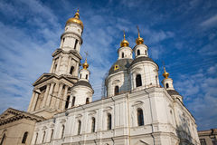 Assumption or Dormition Cathedral in Kharkiv, Ukraine Stock Image