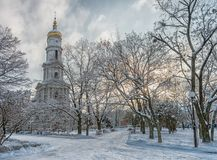 Assumption or Dormition Uspenskiy Cathedral in Kharkiv. Ukraine. Royalty Free Stock Photos