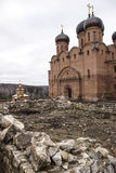 Assumption St. George monastery. Bashkortostan, Blagoveshchensk district, village Usa-Stepanovka. Built the Cathedral of the assumption and the Iveron chapel ( Royalty Free Stock Photography