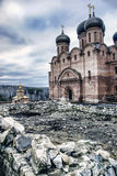 Assumption St. George monastery. Bashkortostan, Blagoveshchensk district, village Usa-Stepanovka. Built the Cathedral of the assumption and the Iveron chapel ( Royalty Free Stock Photos