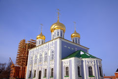 Assumption (Uspensky) Cathedral at territory of Kremlin. Stock Image