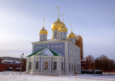 Assumption (Uspensky) Cathedral at territory of Kremlin. Royalty Free Stock Image