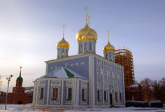 Assumption (Uspensky) Cathedral at territory of Kremlin. Stock Photography