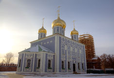 Assumption (Uspensky) Cathedral at territory of Kremlin. Stock Photos