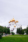 Assumption (Uspensky) Cathedral in Yaroslavl. Golden ring of Rus Stock Images