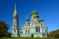 Assumption Uspenskyi Cathedral of Bila Krynytsia Old Believer,. Ukraine. Religious buildings Orthodox Old-Rite Church, Old-ritualist temple stock image