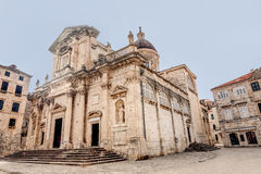 The Assumption of the Virgin mary Cathedral in Dubrovnik, Croati Royalty Free Stock Photo