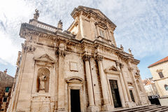 The Assumption of the Virgin mary Cathedral in Dubrovnik, Croati Stock Photos