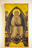 Assumption of Virgin Mary, panel painting, Siena, Italy. Assumption of Virgin Mary, panel painting, XIII century, at the former of convent of San Francesco royalty free stock photo