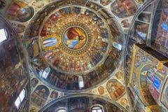 帕多瓦-在中央寺院或圣玛丽亚Assunta大教堂洗礼池的壁画Giusto de Menabuoi (1375-1376) 免版税图库摄影